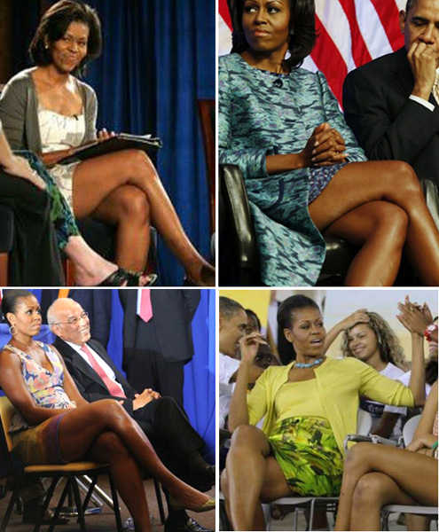 Piernas de Michelle Obama s