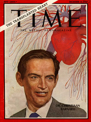 Dr. Christian Barnard featured on the cover of Time magazine