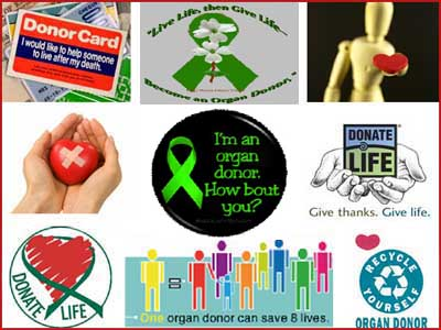 An advertisement for organ donation