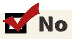 a box checked NO