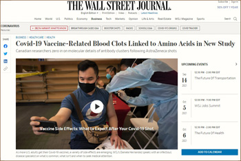 Wall Street Journal on vaccines
