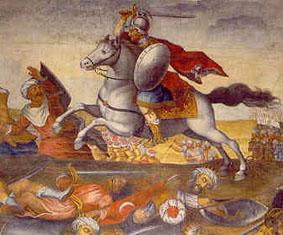 Don Afonso killing Moors
