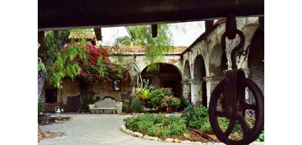 Courtyard Of San Juan Capistrano