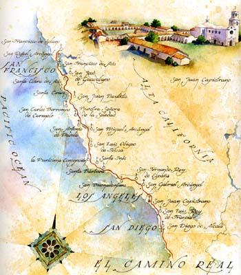 Map Of Fr. Serrau0027s Journey