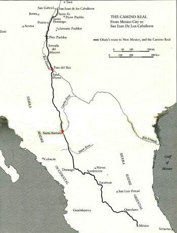 Camino Real, map