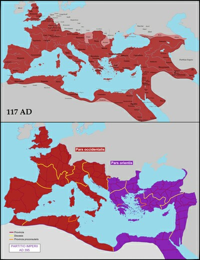 The Roman Empire The Church I The First Christendom By Prof - Map of rome under trajan