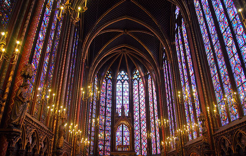 The Stained Glass Of Sainte Chapelle Paris