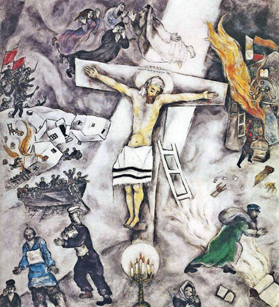 Jesus on the Cross by Chagall - The White Crucifixion by ... Chagall White Crucifixion