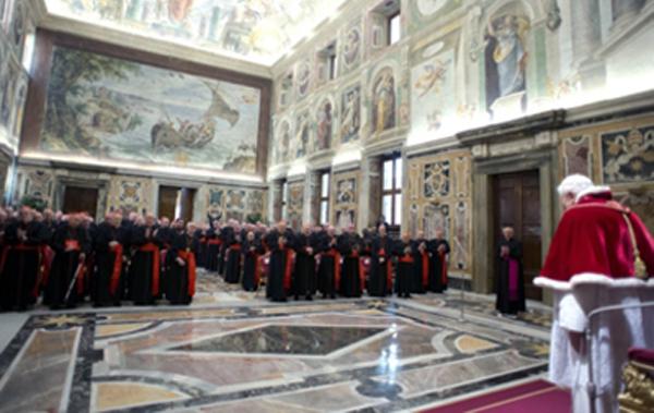 Despedida del Papa al Cardenal 28 de febrero 2013