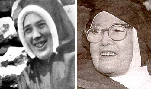 The two different smiles of the two sister Lucy's