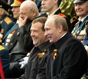 Putin and Medvedev favor the old army