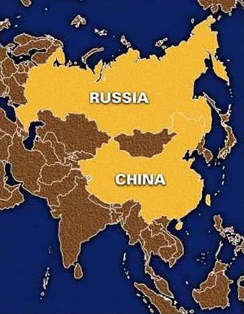 map china russia
