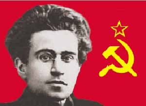 Gramsci e a bandeira soviética