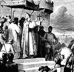which pope commenced any crusades