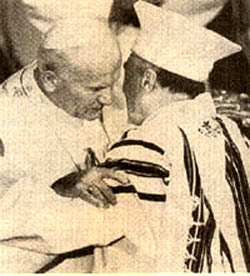JPII embraces Toaff