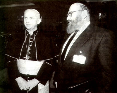 Ratzinger with rabbi Sirat