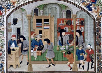 European trading system in the middle ages