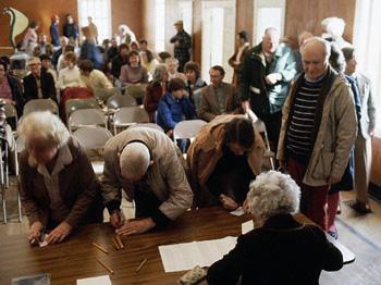 Reunión de Ciudad de voto