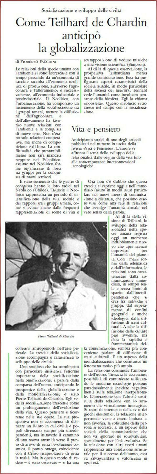 Teilhard de Chardin y Socialización