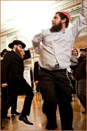 Judios baile para el Papa Bergoglio