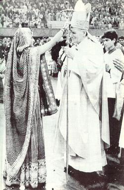 Imagini pentru john paul ii blessed by shaman