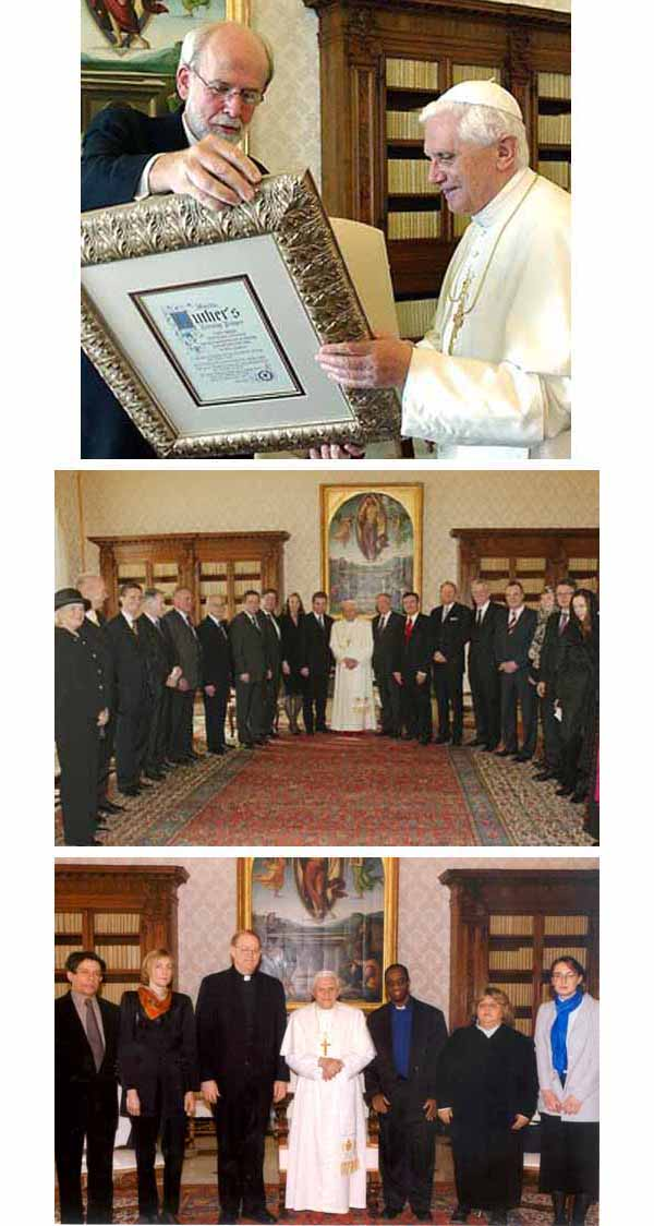 Benedict XVI with Lutherans