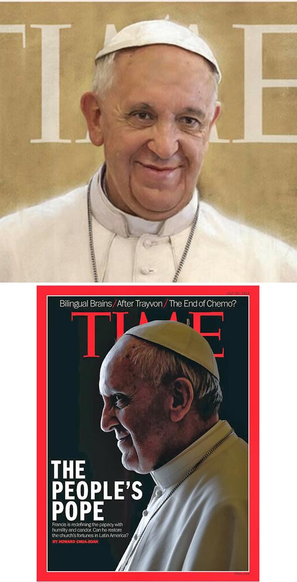 Papa Francis cuernos por tiempos 02