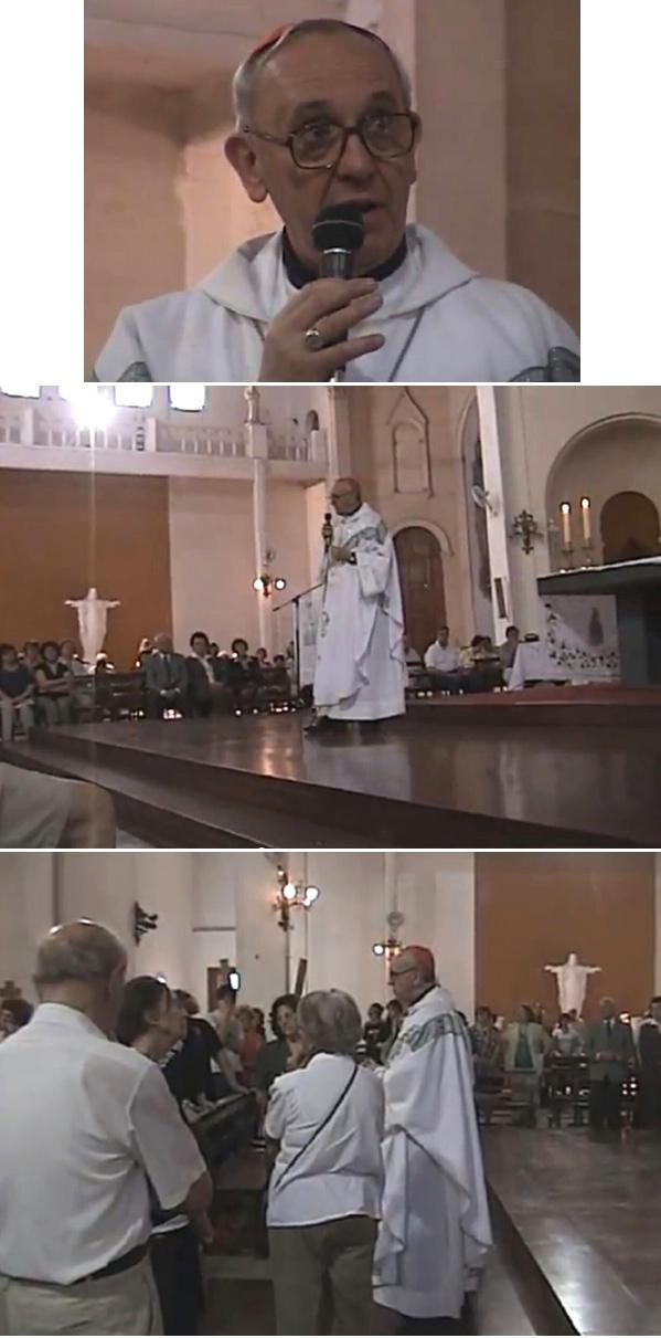 Archbishop Bergoglio in a tango Mass 3