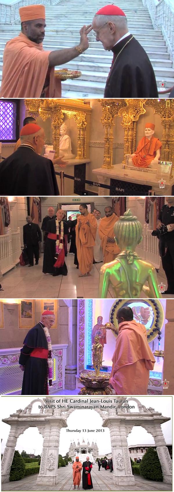 El cardenal Tauran en templo hindú en Londres 3