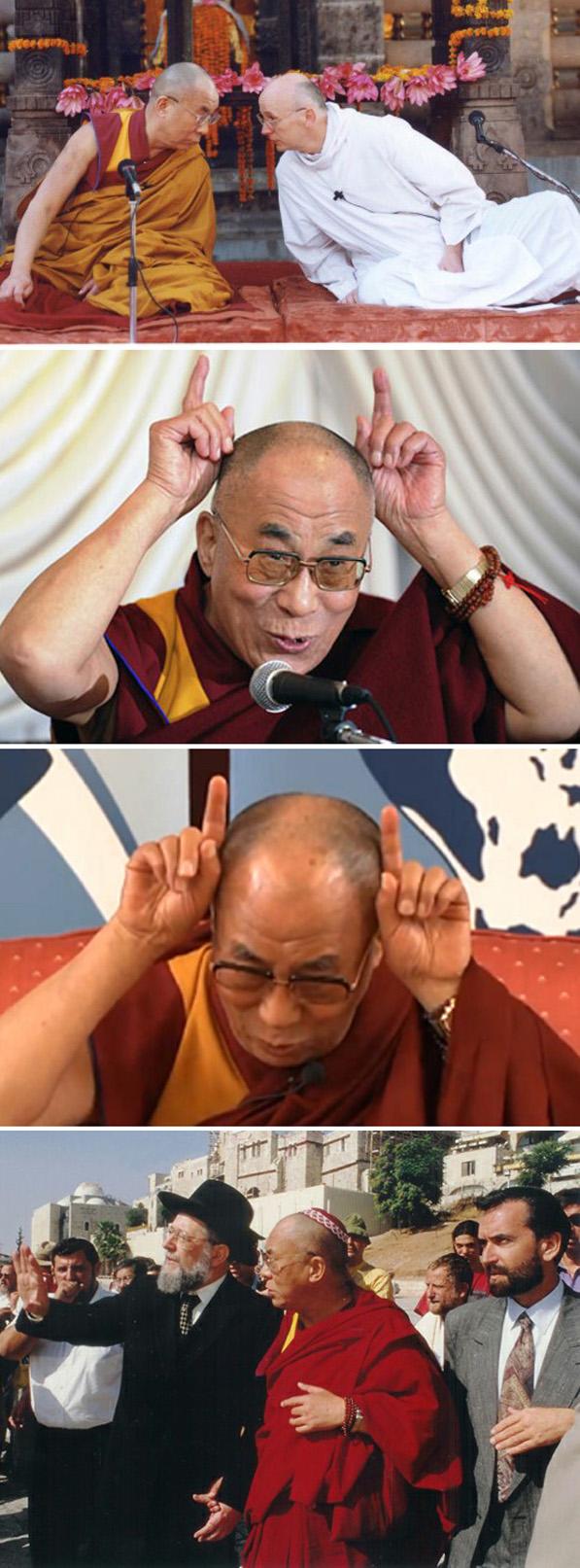 Dalai Lama con Laurence Freeman 2