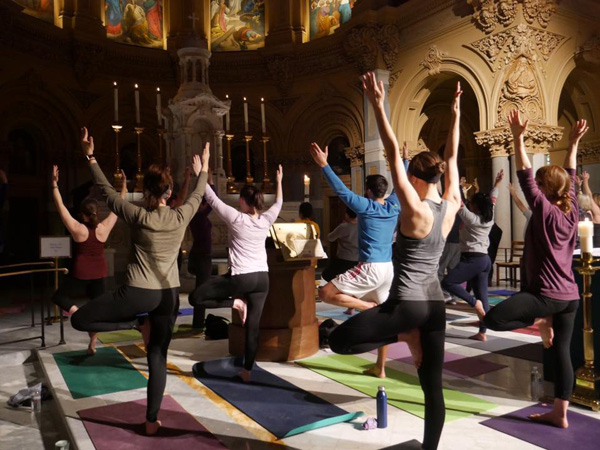 Yoga in St. Francis Xavier Chirch
