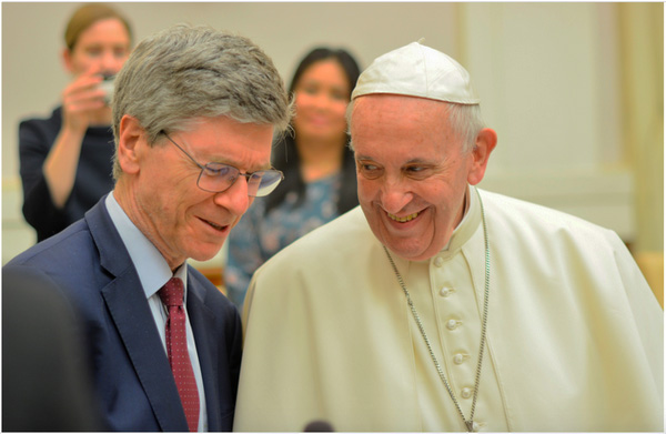 Francis honors Jeffrey Sachs at ecological meeting