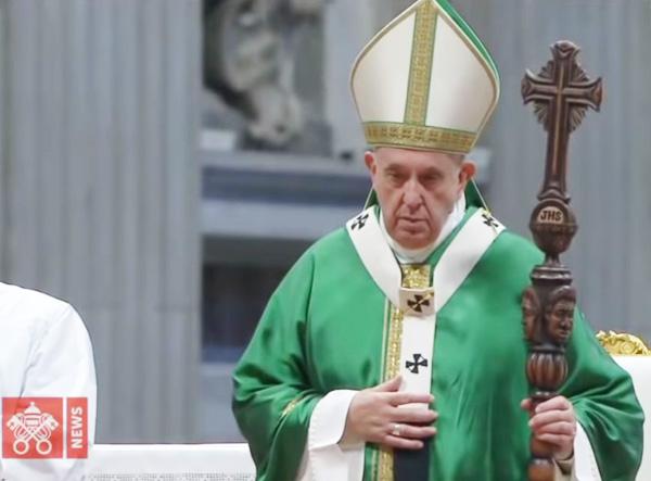 Francis with an idolatrous staff 1