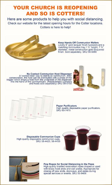 Nuevos utensilios sagrados para la comunión