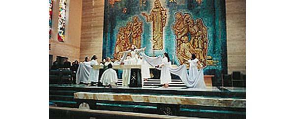 Liturgical dance on the altar 1