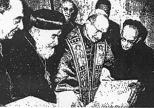 Resultado de imagen para June 24, 1968, Paul VI delivers to a Monophysite Copt