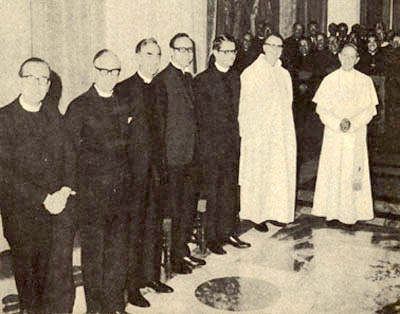 Image result for six protestants with pope Paul VI.