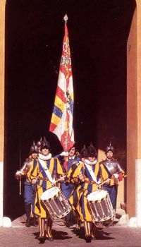 A parade of the Swiss Guard