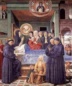 Sandro Gozzoli, The Death of St. Monica