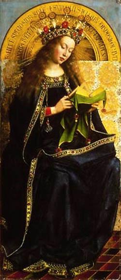 María meditando, de Van Eyck