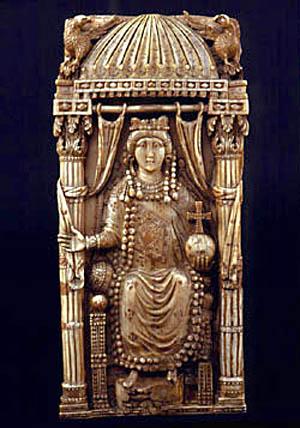 Bysantinsk keiserinne fra 400-tallet, trolig den hellige Pulcheria
