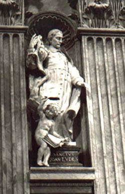 A statue of St. John Eudes, St. Peter's Basilica