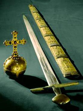 Regalia del Imperio Romano: Orb y espada