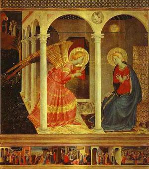 Fra Angelico, la Anunciación