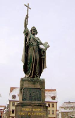 The statue of Saint Boniface in Fulda, Germany