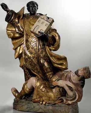 Den hellige Elesbaan overvinner den ugudelige kong Dunaan