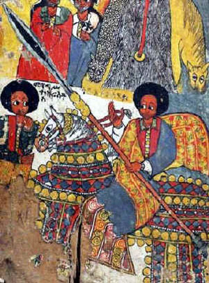 Medieval depictions of ethiopian warriors