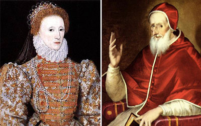 Ressemblances frappantes entre l'hérétique reine Elizabeth I et l'Angleterre protestante et l'hérétique, apostat Vatican 2 (anglais/français) 266_Pius