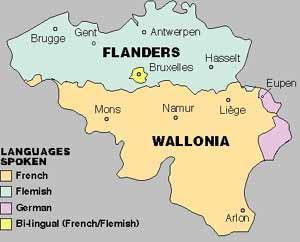 belgian map