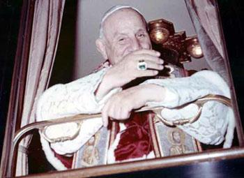 Juan XXIII en el tren